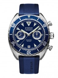 Eterna Super Kontiki Chronograph blue rubber