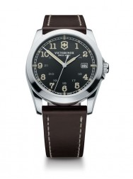 Victorinox Infantry black leather brown