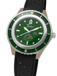 Squale Master Power Reserve 600m green bronze