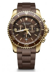 Victorinox Maverick Chronograph brown rubber