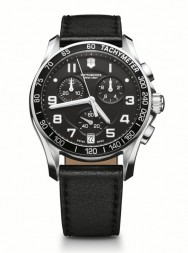 Victorinox Chrono Classic XLS black leather
