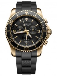 Victorinox Maverick Chronograph black gold rubber