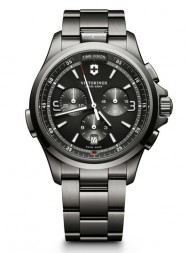 Victorinox Night Vision Chronograph black PVD steel