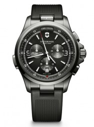 Victorinox Night Vision Chronograph black PVD rubber