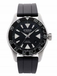 Eterna KonTiki Diver Black Rubber