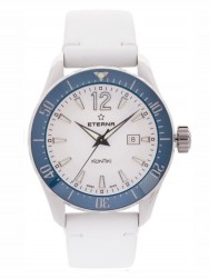 Eterna Lady KonTiki Diver Quartz White/Blue