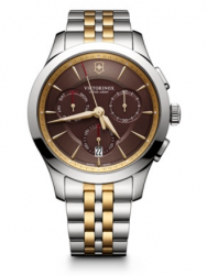 Victorinox Alliance Chronograph brown bicolor steel