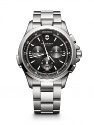 Victorinox Night Vision Chronograph dark grey steel