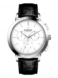 Eterna Eternity For Him Chronograph 42 White Leather