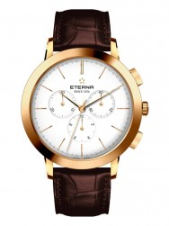 Eterna Eternity For Him Chronograph 42 White Gold Leather