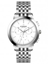 Eterna Eternity For Him Chronograph 42 White Steel
