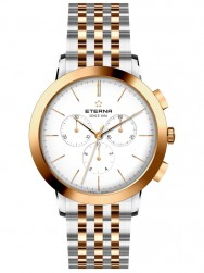 Eterna Eternity For Him Chronograph 42 White Steel Bicolor