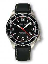Archimede SportTaucher steel/black