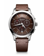 Victorinox Alliance Chronograph brown leather
