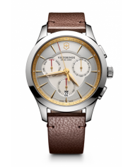 Victorinox Alliance Chronograph white leather