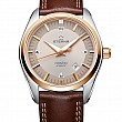 Eterna Kontiki Date grey leather gold