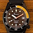 Squale 50 Atmos Black PVD domed